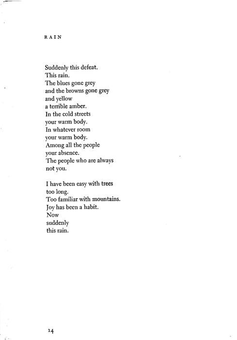 This rain- poem